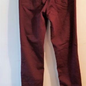 HM Pants - HM Burgundy High Waisted Skinny Pant Size 23-24